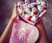 69 images about Kinder caaakes ! on We Heart It   See more about cake, chocolate…