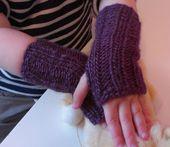 Baby Blanket Einfache Pulswärmer stricken - schoenstricken.de free pattern