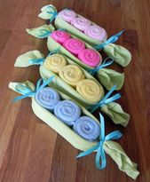 Baby Washcloth Pea Pod-Unique Baby Shower Gifts and Favors Infant Wash Cloth Cute Boy Girl Neutral