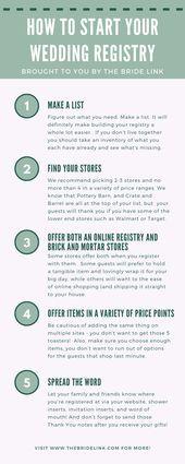 How To Start A Wedding Registry Wedding Planning Guide Wedding Party Supplies Wedding Planning