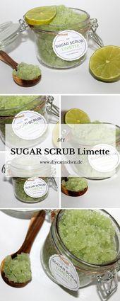 DIY sugar scrub / sugar peel making lime yourself