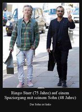Ringo Starr (75 Jahre) auf einem Spaziergang mit seinem.. | Lustige Bilder, Spr…