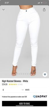 Weisse Jeans Mit Hoher Taille In 2020 White High Waisted Jeans White Jeans High Waist Jeans