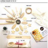 DIY Shibori Schal KIT, Promo 5 Kits Freies Verschiffen, Seidenschal Kit, Herbstfarben, binden gefärbten Schal, machen