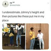 The second picture gives me a mental breakdown what the fuck happened did jaehyun suddenly shrink