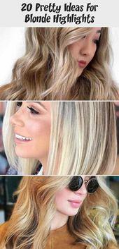 20 hübsche Ideen für blonde Highlights #platinumblondehighlights Platinum Blonde …,  #Blond…
