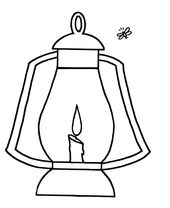 Blank Fireflies Coloring Pages