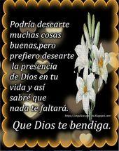 SUEÑOS DE AMOR Y MAGIA: Dios te bendiga siempre.