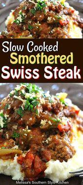 Langsam gekochtes Schweizer Steak