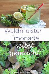 Waldmeister-Limonade selbst gemacht