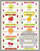 Druckbares Geld für Kinder   – Somewhat Simple Creative Team