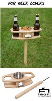 Bier-Tabelle im Freien / zusammenklappbare Biertabelle / Bier-Liebhaber-Geschenk / der Vatert…