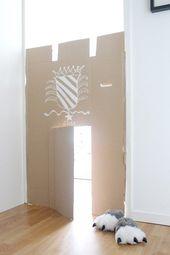 Creative nursery – simple DIY cardboard castle from old cardboard