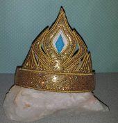 Serre-tête couronne Elsa couronne slider dans la conception de broderie cerceau diadème, 4×4 et 5×7, plus une taille de poupée libre aussi