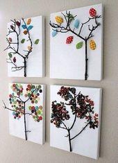 Versuchen Sie auch solche tolle Bilder aus Zweigen…