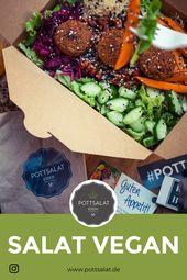 Salat frisch bestellen Salat Salat, Salatrezepte, Salat einfach, Salat id …   – Salat vegan