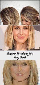 Lena Gercke has her shoulder-length hair tied in a ponytail … #a #gercke #haare #hat #your