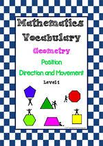 Maths Vocabulary Geometry Position Direction And Movement Math Vocabulary Vocabulary Math