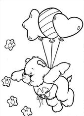 Malvorlagen Free Printable Care Bear für Kinder – Glücksbärchis