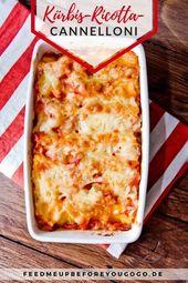 Bonjour l'automne: cannellonis de potiron à la ricotta   – Pasta Rezepte