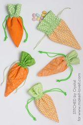 Nähen Sie eine Karotten-Tasche für Ostern!   – Ostern