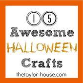 15 Awesome Halloween Crafts #halloween #haloweencr…