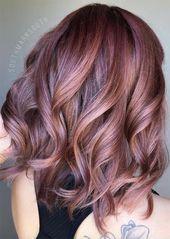 Rose Brown Hair Trend: Ideen für Rose Brown Haarfarben   – Stylistic Hair