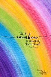 Be A Rainbow Print / Every Day Spirit / Inspiratio…