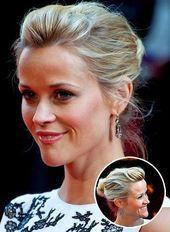 Elegante Hochzeit Hochsteckfrisuren | unter eleganten Frisuren reese witherspoon …   – Kurze Haare Haarband
