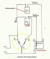 Unique Single Phase Capacitor Start Capacitor Run Motor Wiring Diagram Electrical Wiring Diagram Electrical Circuit Diagram Compressor