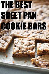 Sheet Pan Chocolate Chip Cookie Bars