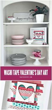 Valentines Day Gift Ideas PinWire: DIY washi tape Valentine's Day decor #washita...