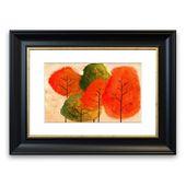 Framed mural autumn trees 1 East Urban Home size: 40 cm H x 50 cm W, frame type: matt black