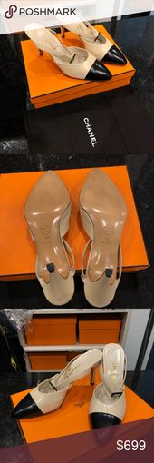 Chanel black and beige pumps Chanel sneakers. By no means worn. Dimension 39. Basic mannequin. C…