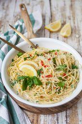 Worlds best lemon spaghetti
