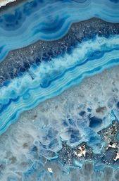 Mineral Fotografie – (Print # 062) Blauer Achat – Fine Art Print – Mineral Geode …   – Hairstyle