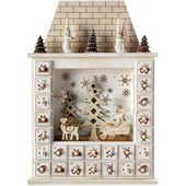 Photo of Santa House Adventskalender Weihnachtsdekoration, 40 cm – Weiß