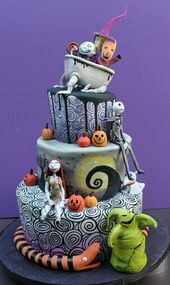 Torta de halloween fácil fiesta todos los santos deco