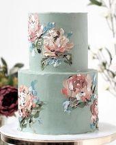 Idées de gâteau de mariage imprimées #wedding #weddings #weddingideas #deerpe…