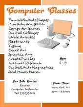 Computer Classes Flyer Template Created With Microsoft Word Flyer Tutor Com Flyerdesign Graphicdesign Flyertempla Flyer Template Words Microsoft Word 2010