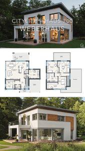 Modern European Style Architecture House Plan & Interior Design Ideas- City Life Villa 700