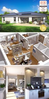 Bungalow House Plans with One Level & 3 Bedroom Mo…
