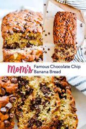 La famosa receta de pan de plátano con chispas de chocolate de mamá   – Breads