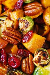 Roasted Brussels Sprouts, Cinnamon Butternut Squash, Pecans, and Cranberries | J…   – Low Histamine/Paleo Foods