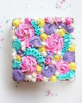 """Wilton Cake Decorating auf Instagram: """"Ein mit Buttercreme dekorierter Blechkuchen ist …   – Sheet cakes"""