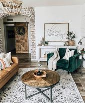 34 Comfy Living Room Decoration Ideas With Farmhouse Style – HOMYFEED