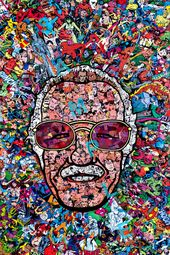 Particulars about STAN LEE 12×18 HEROES FACES ART POSTER SPIDERMAN MARVEL HULK THOR AVENGERS