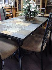 Vintage Wrought Iron Tile Top Table Coffee Table Patio Table Small Room Floral Tile Farmhouse Rustic Decor Heavy Piece Decorative  Chez Rai