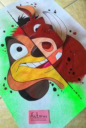 Timon Y Pumba Dibujo Timon Y Pumba Arte En Cuadernos Leon Acuarela