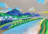 Dra wind weht im kanal ara- # illustration # … – #illustration #kanal – #LandschaftZeichnungen